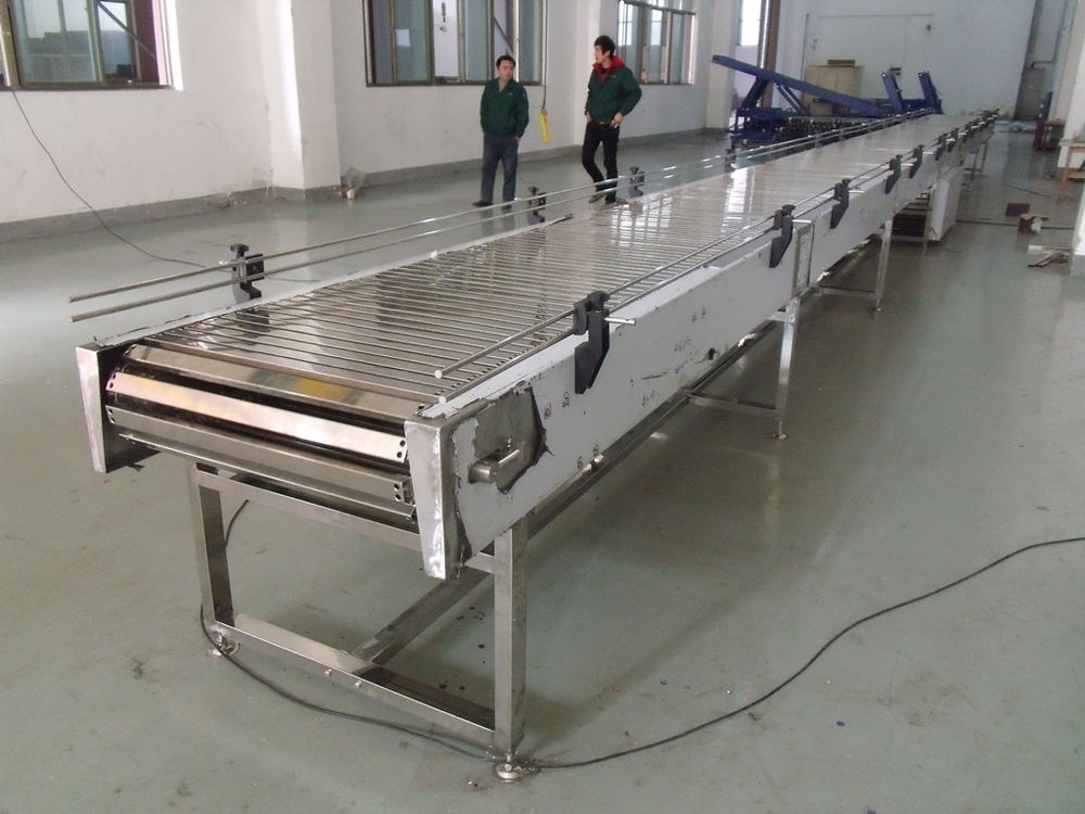 Stainless Steel 304 Slat Chain Conveyor