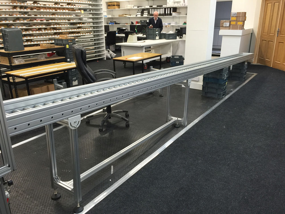 Aluminum Gravity Roller Conveyor