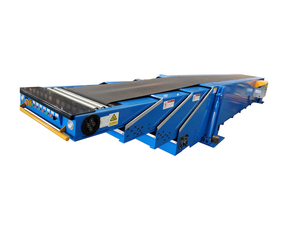 Fixed telescopic belt conveyor for load unload 20ft & 40ft container | FTBC-4S-6/12-800