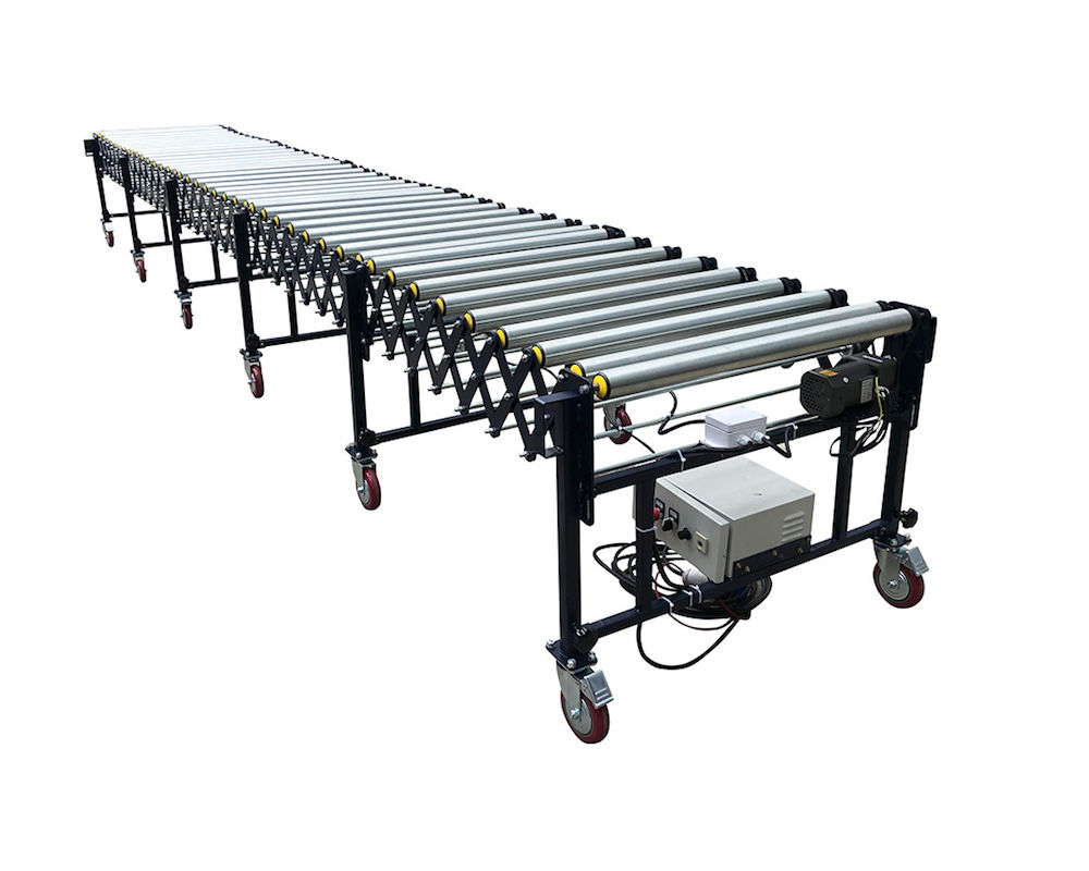 Flexible Powered Roller Conveyor-V belt