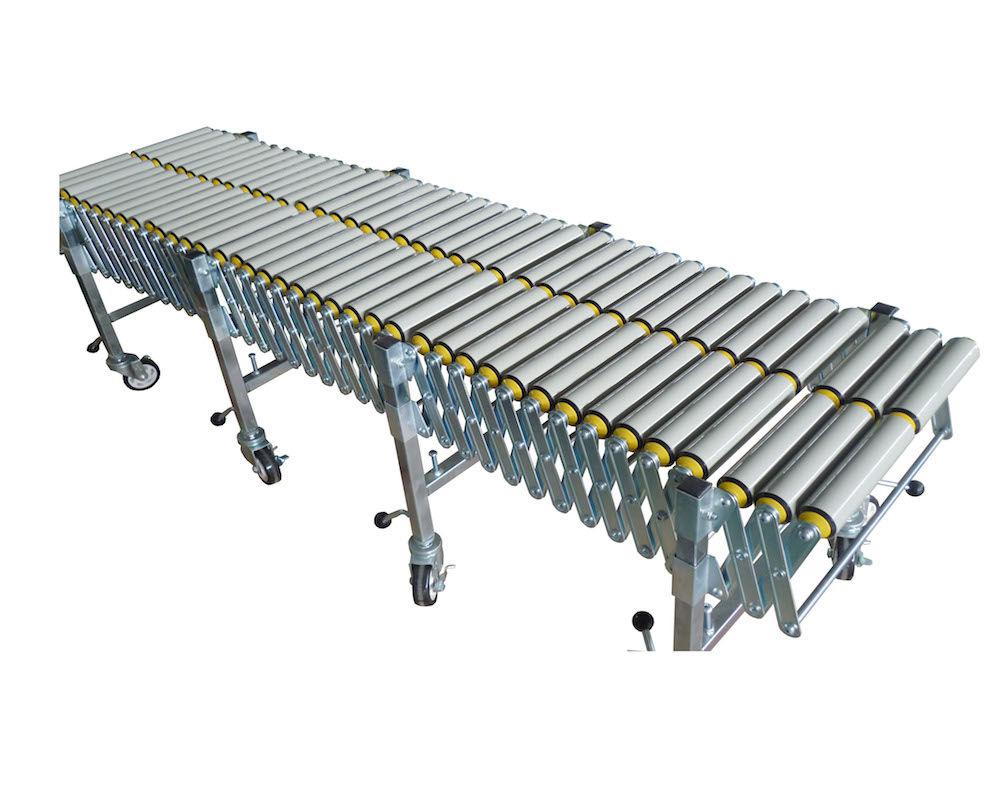 Flexible Gravity Double PVC Roller Conveyor