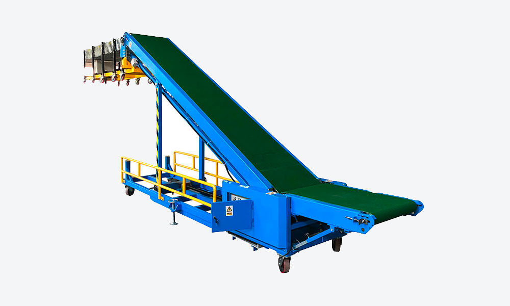 Truck Loading Conveyor with 4.2m flexible motorized roller conveyor