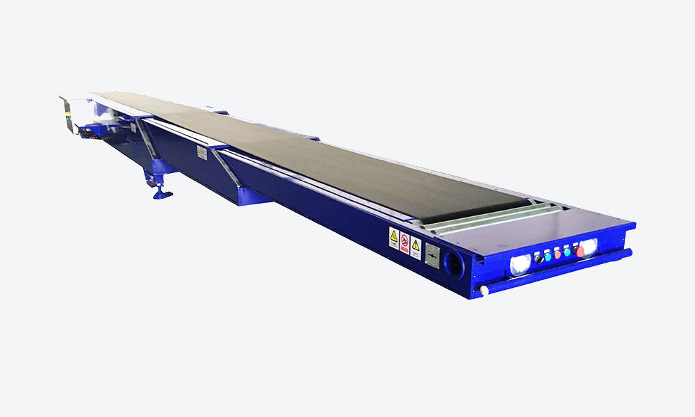 Small telescopic belt conveyor