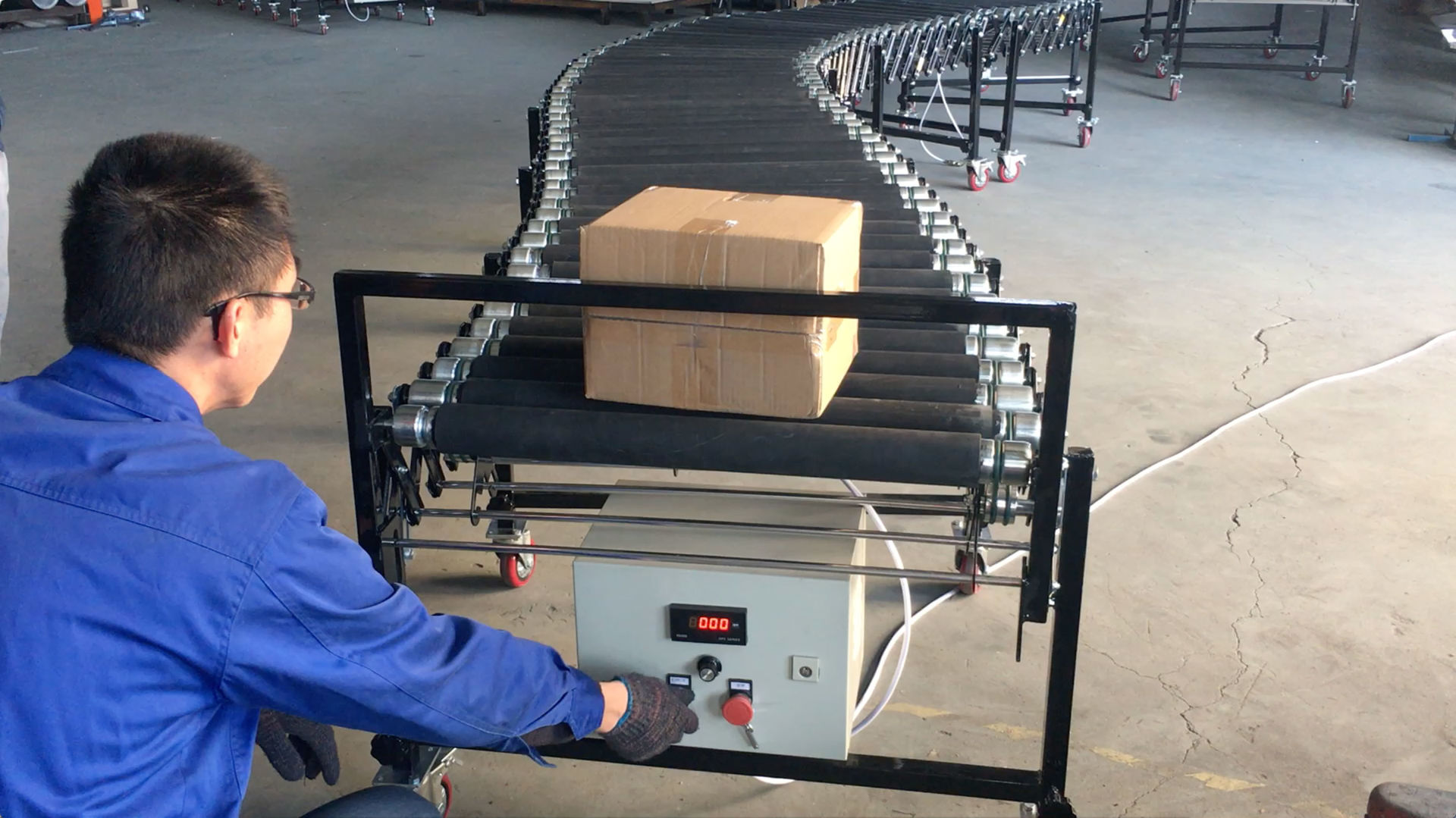 O Belt Flexible Powered Rubber Roller Conveyor