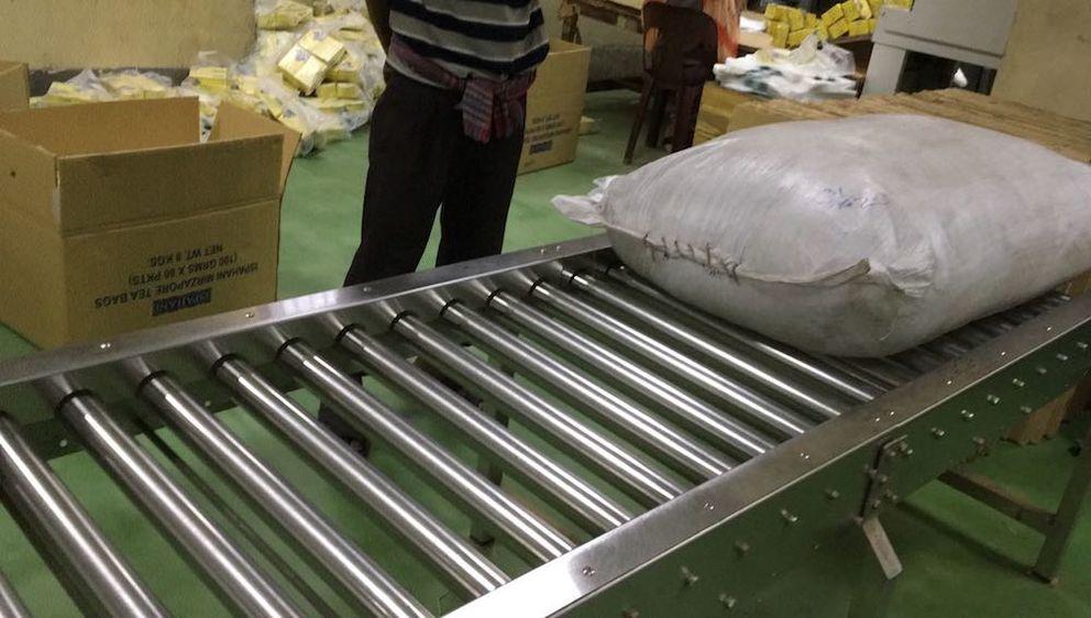 Stainless Steel 304/201 Motorized Roller Conveyor