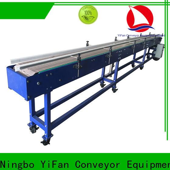 YiFan slat slat chain conveyor manufacturers for cosmetics industry