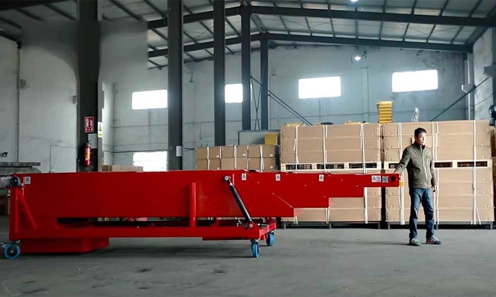 Movable Telescopic Belt Conveyor for Loading Unloading Containers