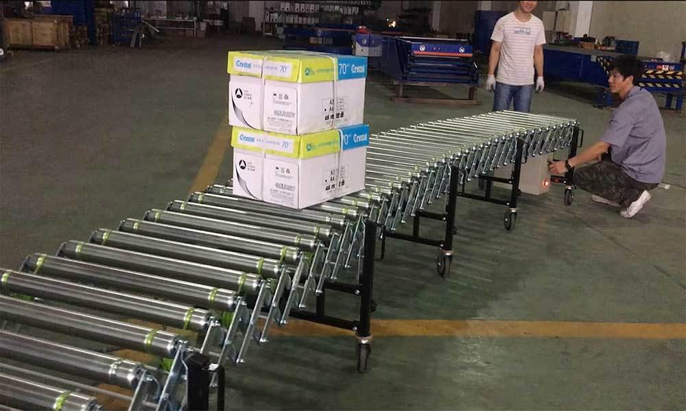 Motorized Flexible Powered Extendable Roller Conveyor