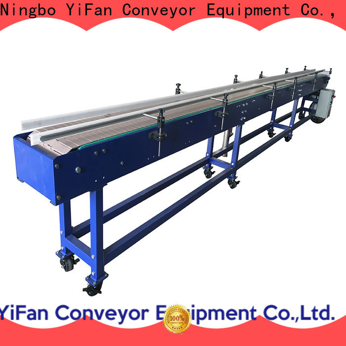 YiFan durable slat chain conveyor manufacturers top brand for beverage industry