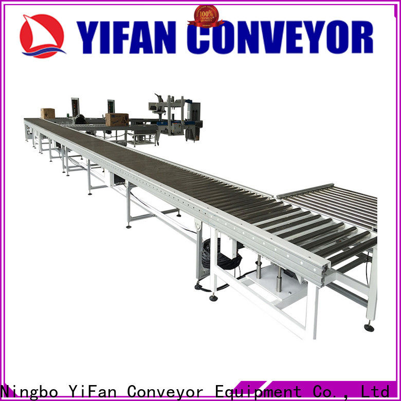 YiFan powered 90 degree curve conveyor company for warehouse