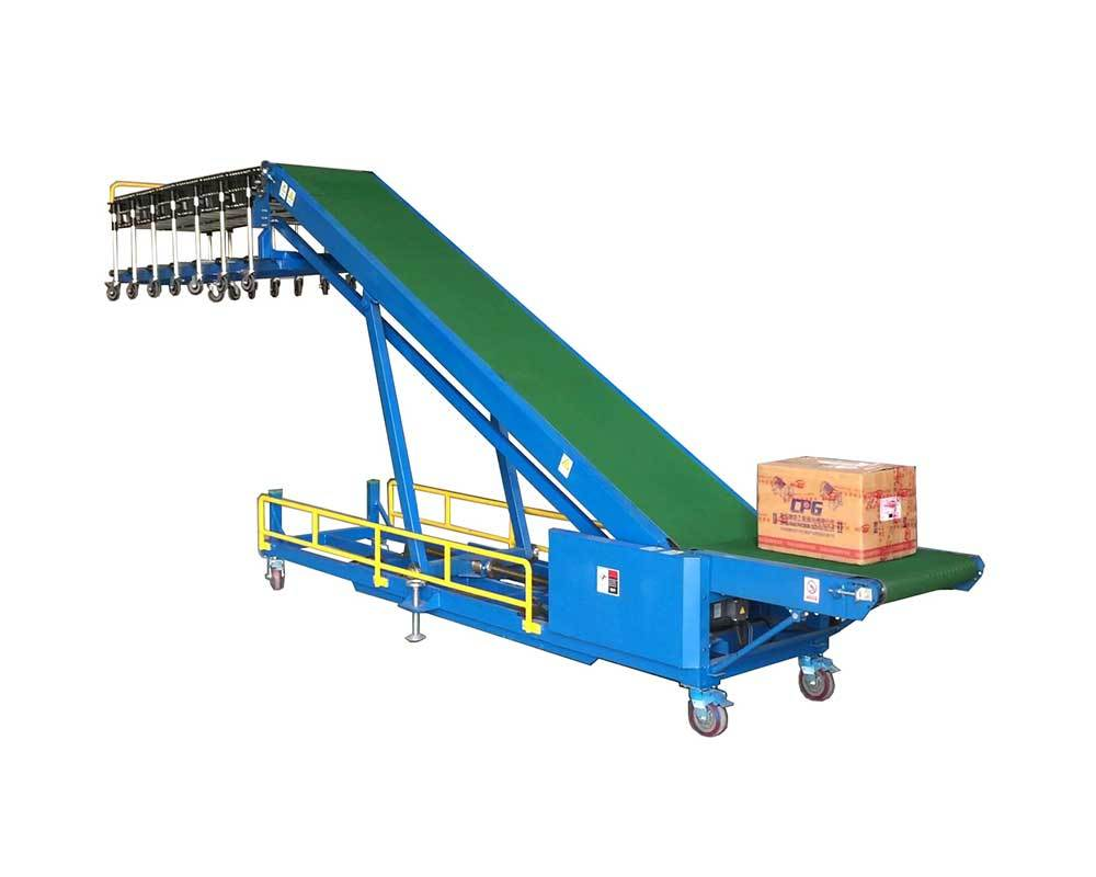 Simple Truck Loading Conveyor combine with flexible skate wheel conveyor | TLC-G600