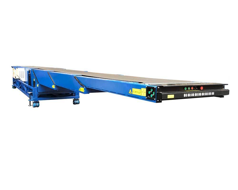 Movable Telescopic Conveyor Belt for Loading Unloading 40ft Conainer | MTBC-4S-6/12-800