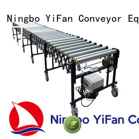 YiFan rubber flexible motorized roller conveyor factory for factory