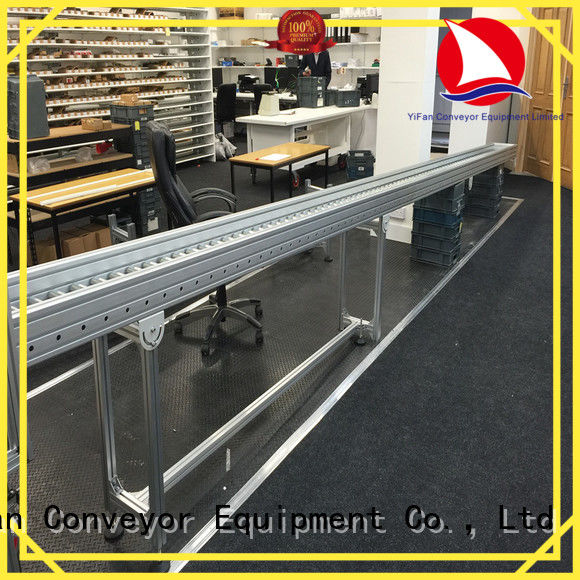 YiFan degree roller conveyor manufacturer for workshop