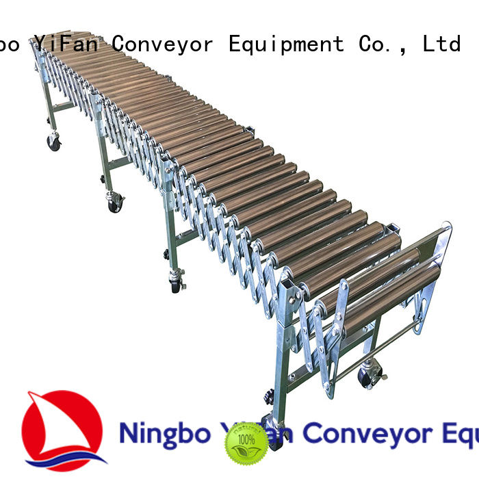 YiFan flexible gravity roller conveyor factory price for warehouse logistics