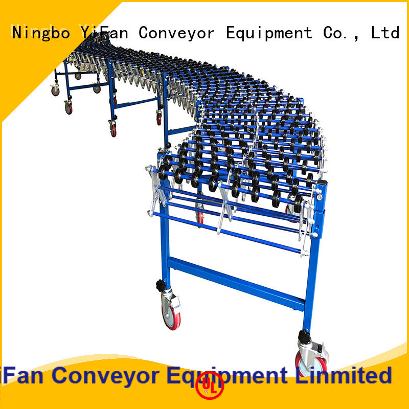 YiFan flexible gravity skate wheel conveyor competitive price for dock