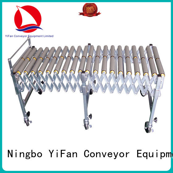 YiFan stainless gravity roller conveyor factory price for warehouse logistics
