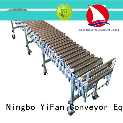 YiFan 5 star services flexible gravity roller conveyor for-sale for warehouse logistics