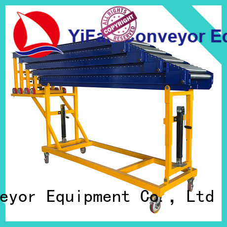 YiFan telescopic conveyor manufacturers export worldwide for warehouse