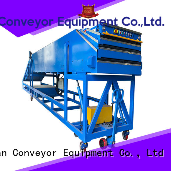 YiFan high performance telescopic belt conveyors widely use for workshop