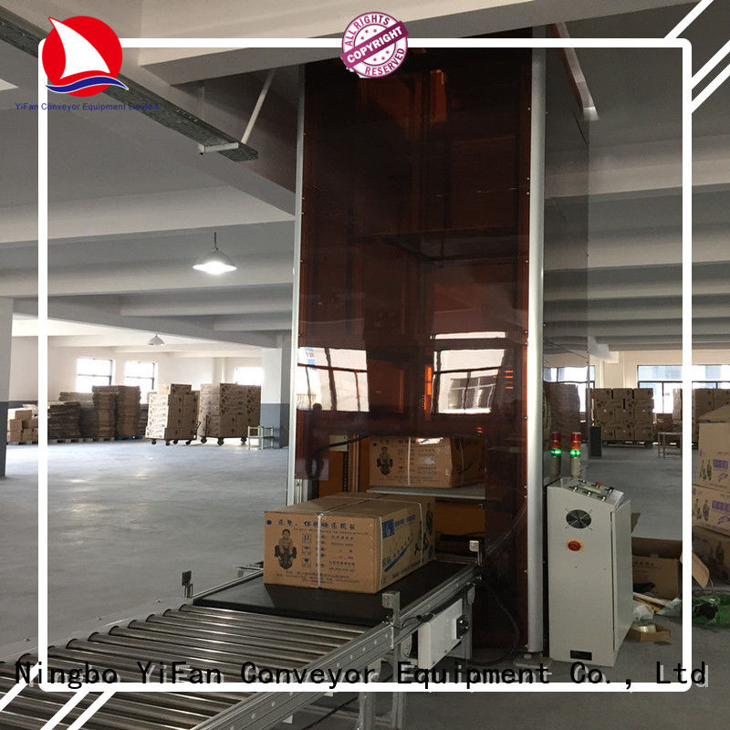 YiFan latest vertical lifting conveyor widely use for storehouse