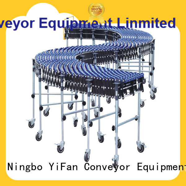 YiFan steel skate conveyor with long service for storehouse