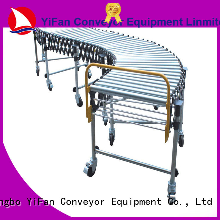 YiFan gravity flexible gravity roller conveyor with good price for warehouse logistics