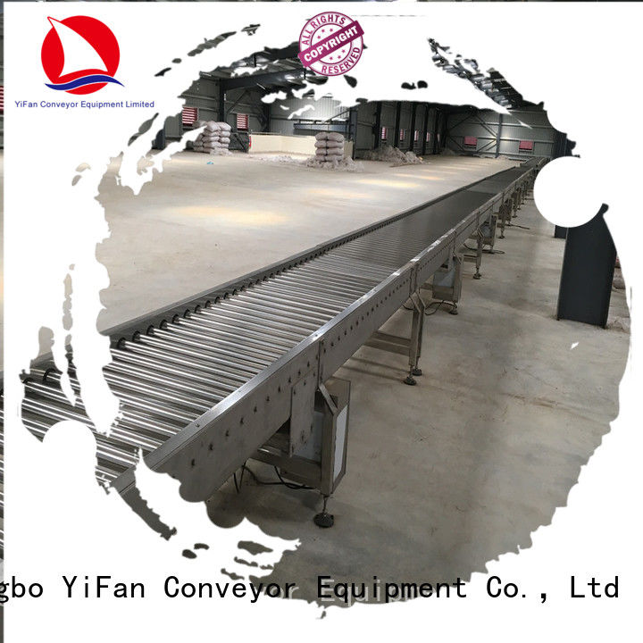 YiFan stainless roller conveyor suppliers from China for workshop