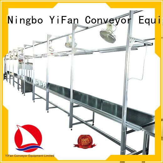 YiFan aluminum belt conveyor with good reputation for daily chemical industry