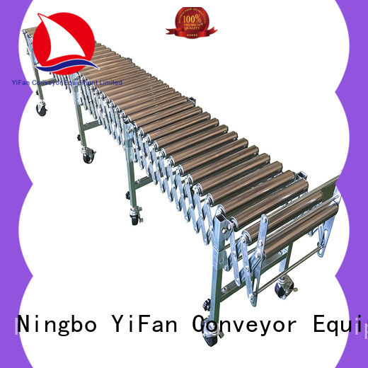 YiFan long-lasting durability roller conveyor system factory price for warehouse logistics