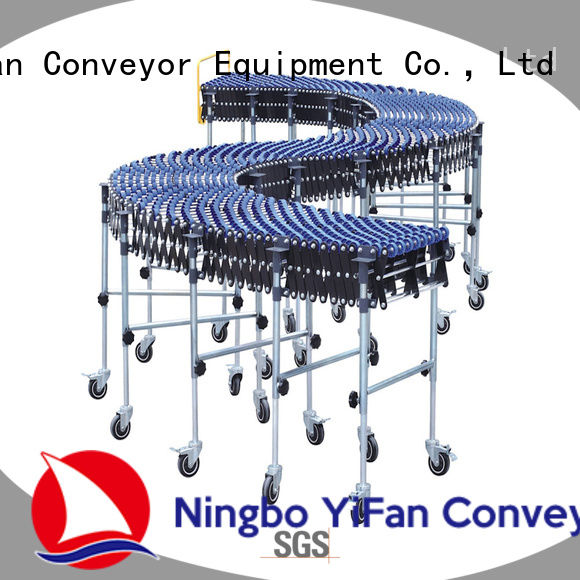 YiFan high quality roller wheel conveyor with long service for harbor