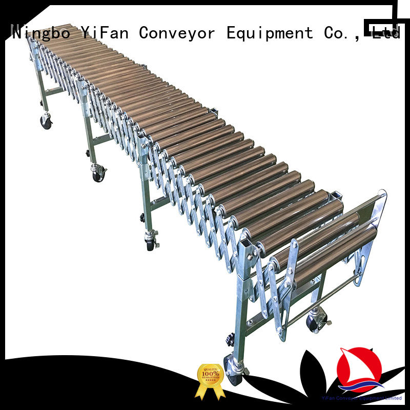 YiFan 5 star services roller conveyor system with good price for warehouse logistics