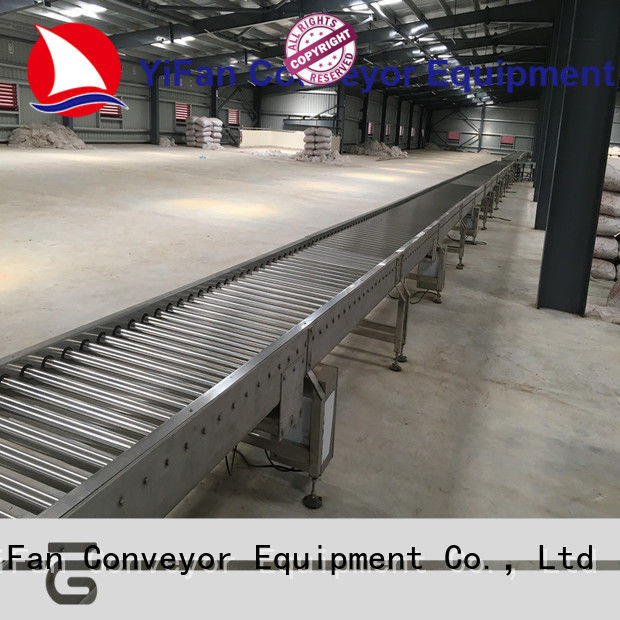 YiFan curve gravity conveyor manufacturers from China for warehouse