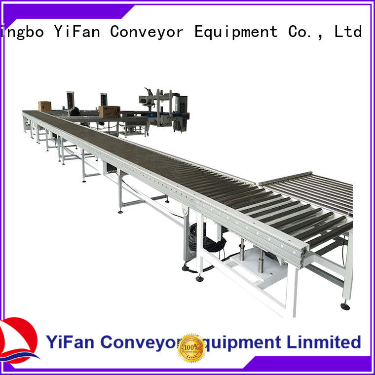 YiFan powered conveyor system source now for carton transfer