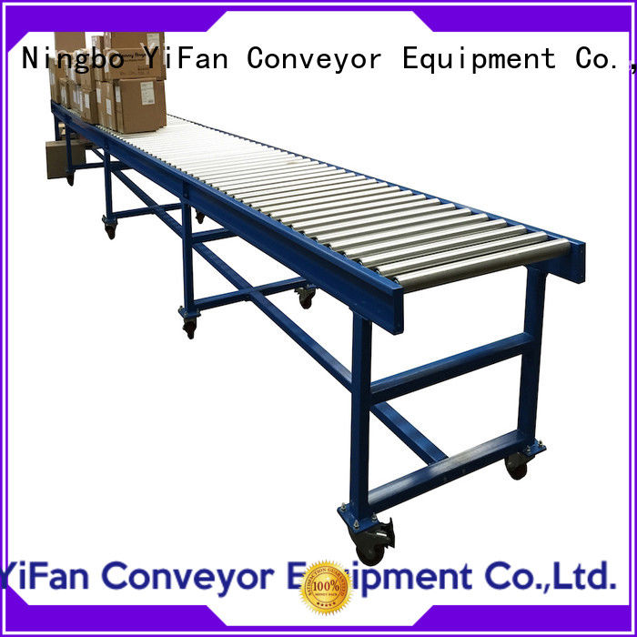 YiFan powered roller conveyor manufacturer from China for carton transfer
