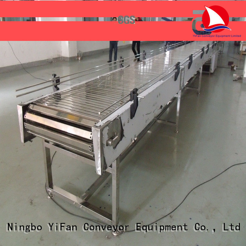 YiFan steel top chain conveyor online for beer industry