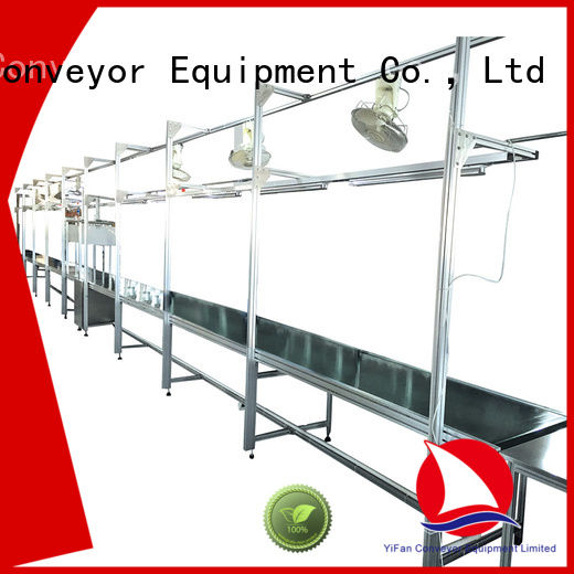YiFan curve conveyor systems for light industry