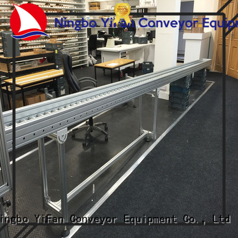 YiFan curve gravity roller conveyor from China