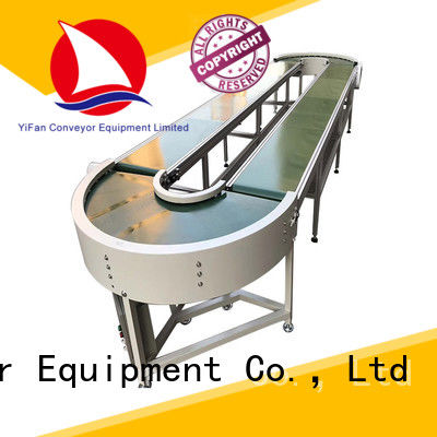 YiFan pvc belt conveyor manufacturer awarded supplier for food industry