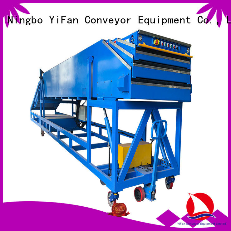 YiFan stages belt conveyor with bottom price for mineral