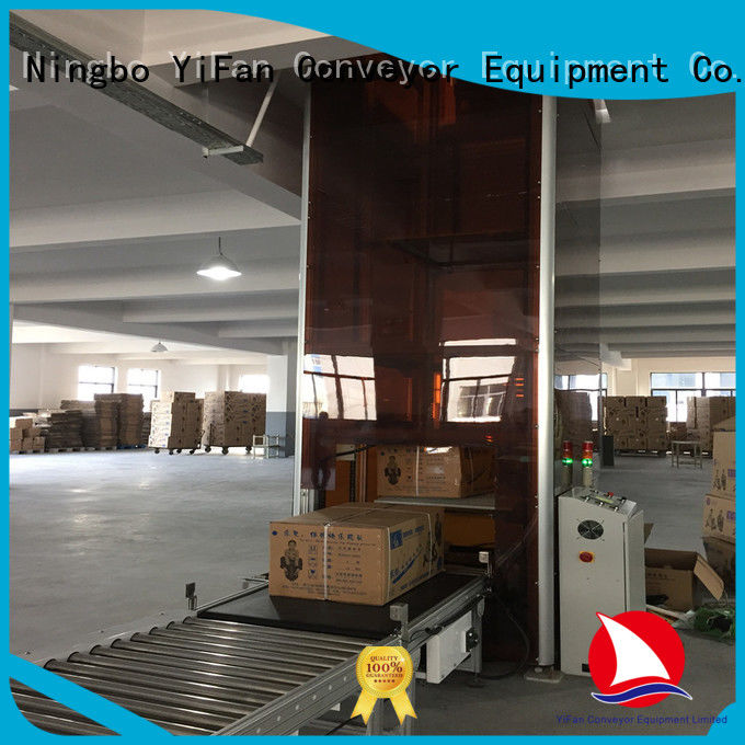 YiFan conveyor vertical pallet lift Chinese manufacture for factory