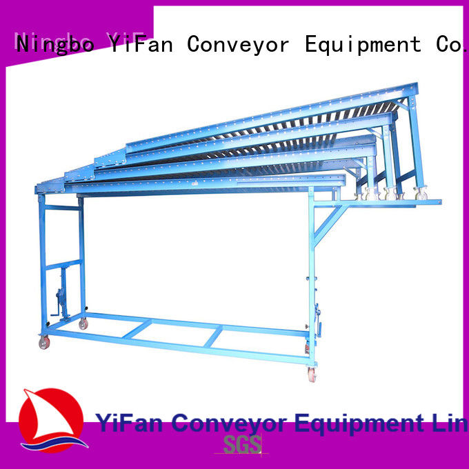 YiFan gravity powered roller conveyor international market for mineral
