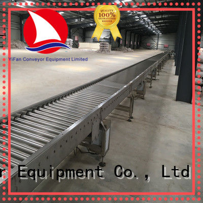 gravity roller conveyor warehouse for carton transfer