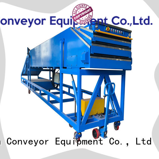 conveyor belt manufacturer telescopic with bottom price for seaport