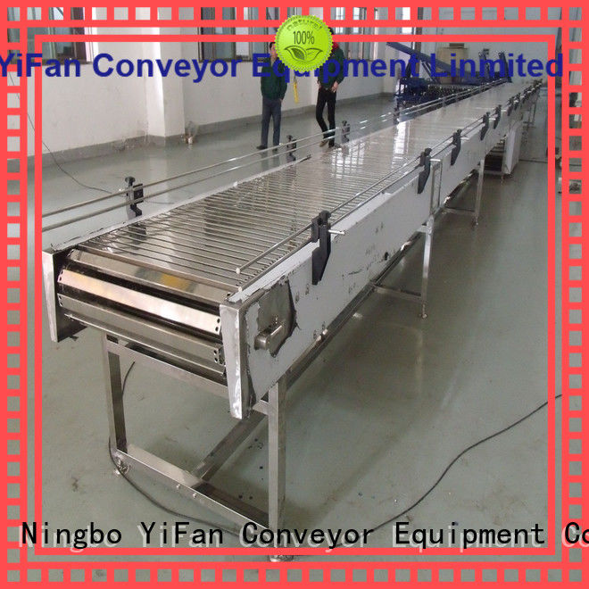 YiFan stainless chain conveyors for cosmetics industry