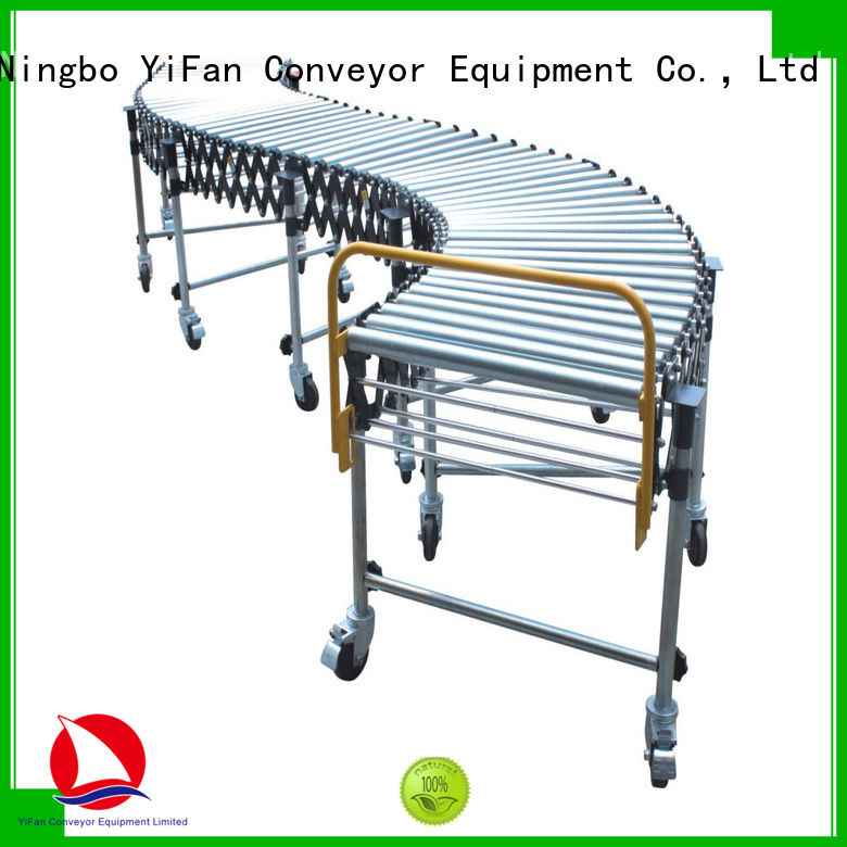 YiFan 5 star services flexible roller conveyor with good price for warehouse logistics