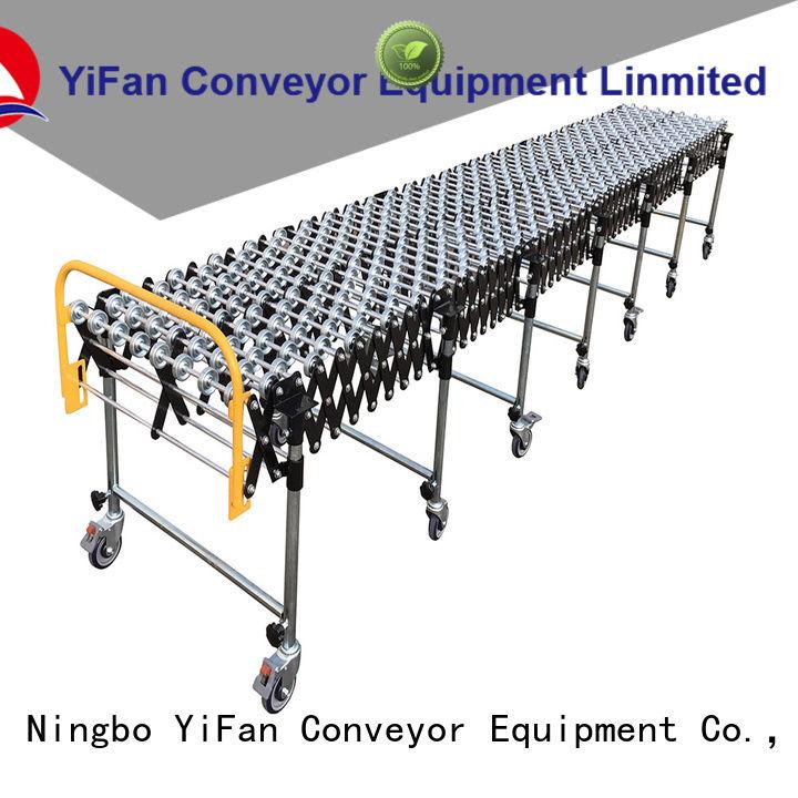 YiFan trustworthy Plastic Skate Wheel Conveyor popular for storehouse