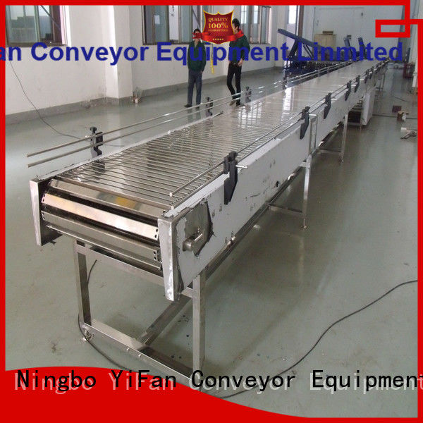 YiFan stainless slat conveyor manufacturers online for cosmetics industry
