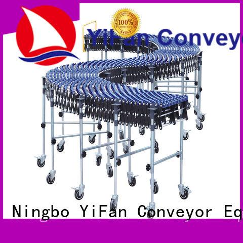 high quality gravity skate wheel conveyor flexible for dock