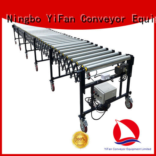 low cost flexible motorized roller conveyor rubber manufacturer for dock